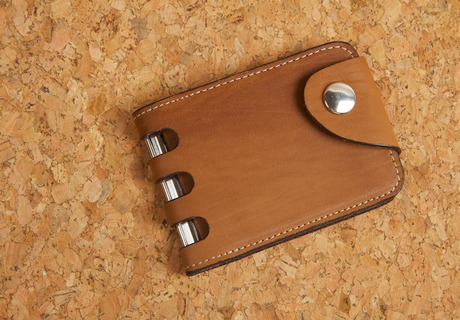 Leather Banknote Clip «W»